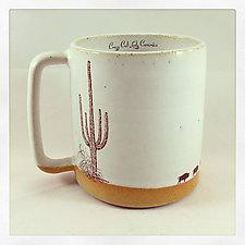 Wandering Buffalo Mug by Chris Hudson and Shelly  Hail (Ceramic Mug)
