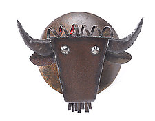 Buffalo Head by Ben Gatski and Kate Gatski (Metal Wall Sculpture)
