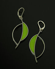 Leaf Earrings by Melissa Stiles (Steel & Resin Earrings)