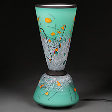 Vivid Verdigris by Eric Bladholm (Art Glass Table Lamp)