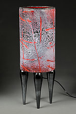 Crimson Comet by Eric Bladholm (Art Glass Table Lamp)