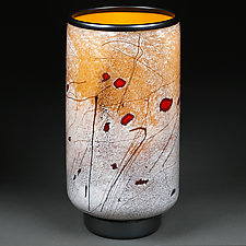 Saffron Song by Eric Bladholm (Art Glass Vessel)
