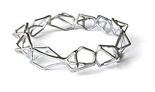 Repeating Geo Bracelet in Silver by Aimee Petkus (Silver Bracelet)