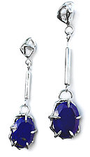 Large Geo Gemstone Drops by Aimee Petkus (Silver & Stone Earrings)