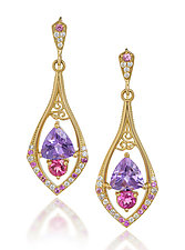 Princess Earrings by Veronica Eckert (Gold & Stone Earrings)