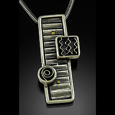 Stacked Trio of Elements by Kim  Wilson (Silver & Brass Necklace)