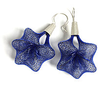 Blue Penta Earrings by Michal Lando (Nylon Earrings)