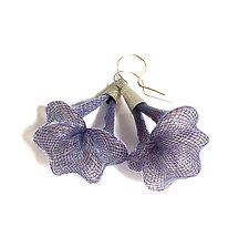 Purple Penta Earrings by Michal Lando (Nylon Earrings)