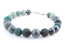 Charcoal Blues Necklace by Lauren Schlossberg (Beaded Necklace)