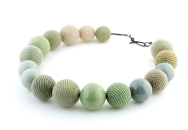 Celery Greens and Seafoam Necklace