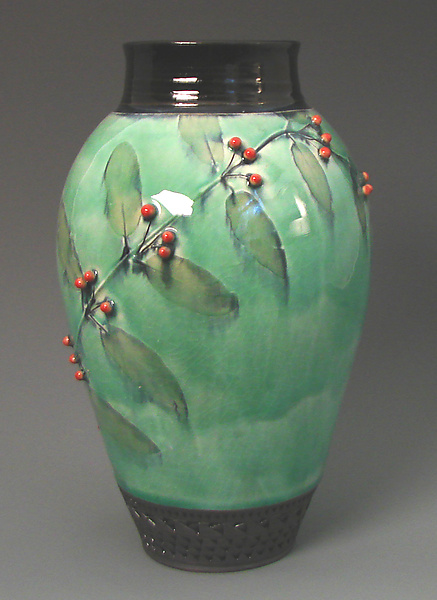 Vase with Red Berries