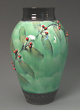 Vase with Red Berries by Suzanne Crane (Ceramic Vase)