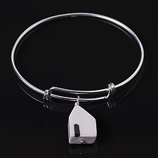 Open House Bangle by Diana Eldreth (Silver & Ceramic Bracelet)