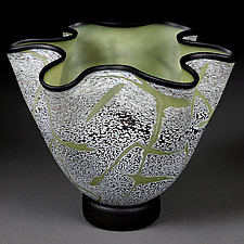 Sublime Sage by Eric Bladholm (Art Glass Vessel)