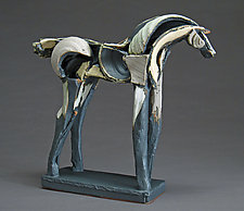 Light Horse by Jeri Hollister (Ceramic Sculpture)