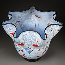 Snezhnaya Noch (Snowy Night) Large Vessel by Eric Bladholm (Art Glass Vessel)