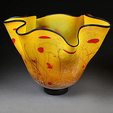 Summer Saffron Large Vessel by Eric Bladholm (Art Glass Vessel)