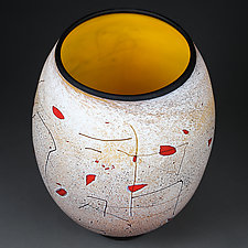 Golden Gaze by Eric Bladholm (Art Glass Vessel)