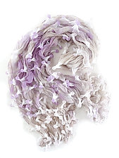 Large Epidermis Scarf in Lavender by Yuh  Okano (Woven Scarf)
