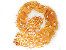 Large Epidermis Forest Scarf in Orange by Yuh  Okano (Woven Scarf)