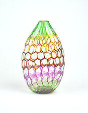 Rainbow Vase by Andrew Stenerson (Art Glass Vase)