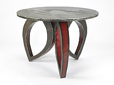 Red Blossom Dining Table by Ben Gatski and Kate Gatski (Metal Dining Table)