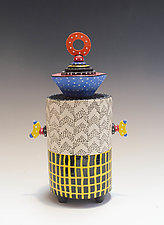 Memphis Container by Vaughan Nelson (Ceramic Vessel)