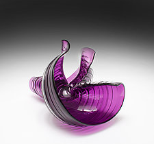 Violet Eddies by April Wagner (Art Glass Sculpture)