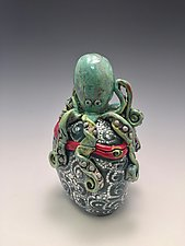 Pulpo Verde by Lilia Venier (Ceramic Jar)