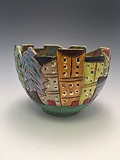 Sorrento II by Lilia Venier (Ceramic Bowl)