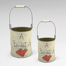 Bucket of Love by Noelle VanHendrick and Eric Hendrick (Ceramic Vessel)