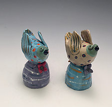 Coco and Max by Lilia Venier (Ceramic Salt & Pepper Shakers)