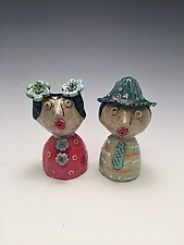 Maria and Mark by Lilia Venier (Ceramic Salt & Pepper Shakers)