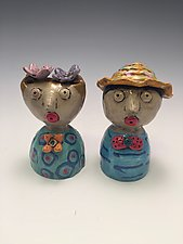 Lisa and Louie by Lilia Venier (Ceramic Salt & Pepper Shakers)