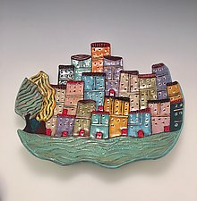 Naples by Lilia Venier (Ceramic Platter)