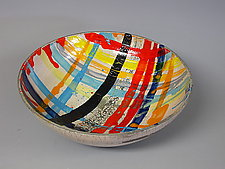 Multicolored Bowl by Paul  Schneider (Ceramic Bowl)