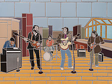 Beatles Roof Top Concert by Jonathan I. Mandell (Giclee Print)