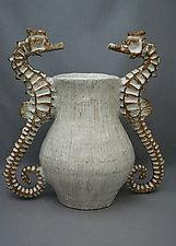 Seahorse Vase by Shayne Greco (Ceramic Vase)