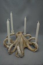 Octopus Candelabra by Shayne Greco (Ceramic Candleholder)