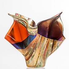 Sedona Sunset by Varda Avnisan (Art Glass Sculpture)