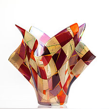 Arizona Sunrise by Varda Avnisan (Art Glass Sculpture)