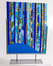 Blue Forest by Varda Avnisan (Art Glass Sculpture)