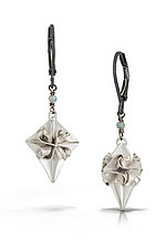 Small Silver Stardust Earrings by Chihiro Makio (Silver & Stone Earrings)
