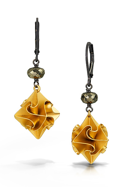 Large Gold Stardust Earrings