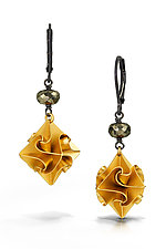Large Gold Stardust Earrings by Chihiro Makio (Gold, Silver & Stone Earrings)