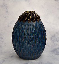 Rishi Pearl Vessel by Valerie Seaberg (Mixed-Media Vessel)