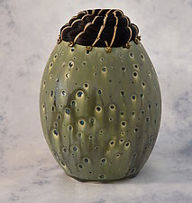 Granite Creek Vessel by Valerie Seaberg (Mixed-Media Vessel)
