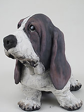 Bassett Hound by Ronnie Gould (Ceramic Sculpture)