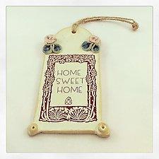 Home Sweet Home Wall Hanging by Chris Hudson and Shelly  Hail (Ceramic Wall Sculpture)