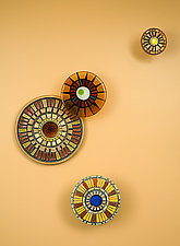 Tuscan Mosaic by Janine Sopp and Barbara Galazzo (Art Glass & Ceramic Wall Sculpture)